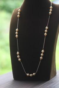 真珠ロングネックレスリフォーム