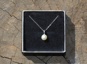 真珠リングを一粒ネックレスに