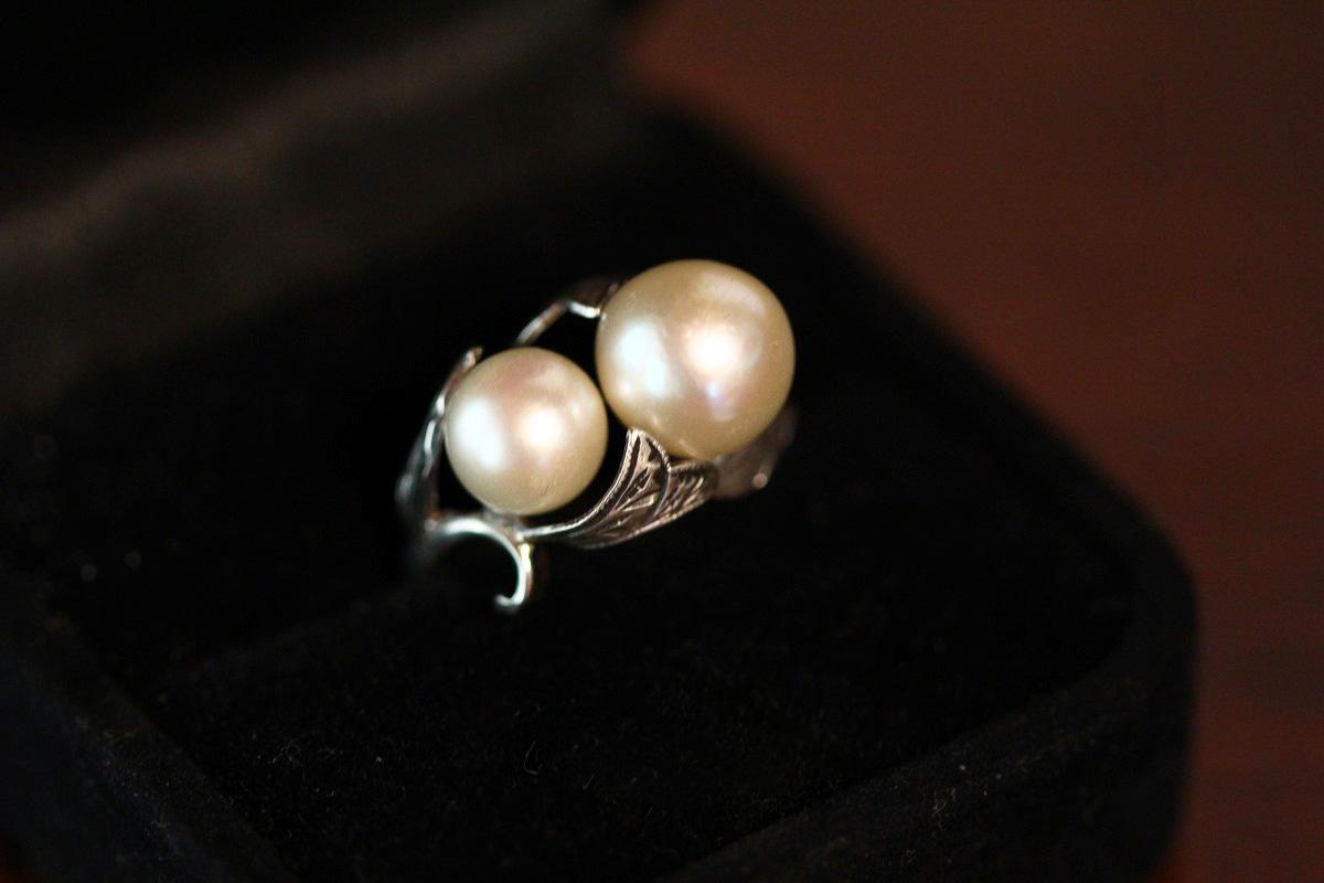 真珠リングのリフォーム