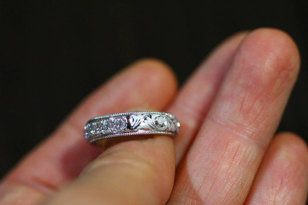 指輪彫り直し