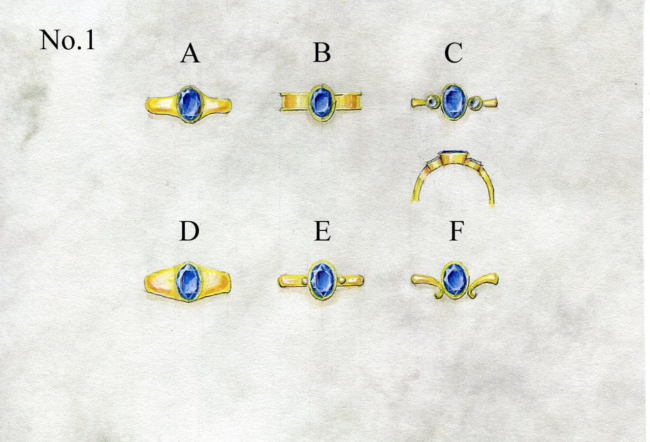 シンプルリングデザイン図1