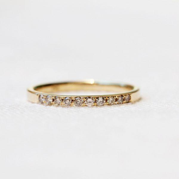 メレダイヤ 18 金 指輪のリフォーム