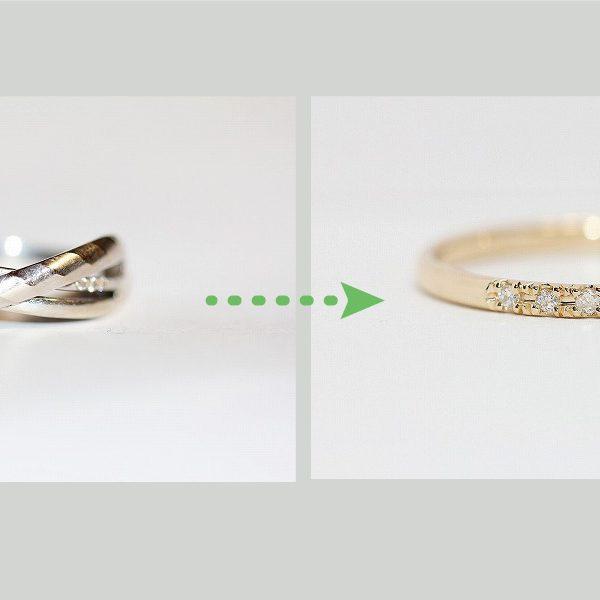 メレダイヤを普段使いの指輪にリフォーム