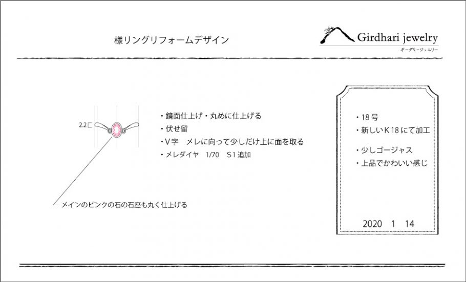 指輪デザイン図