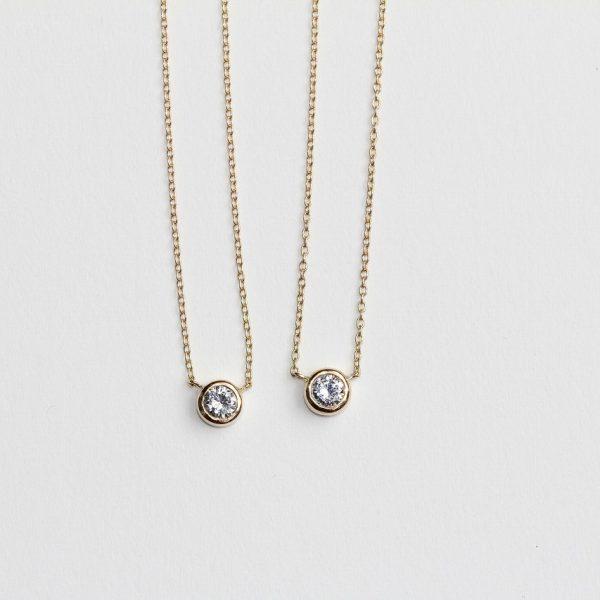 ダイヤお持込 昔の指輪を一粒プチネックレスにリメイク
