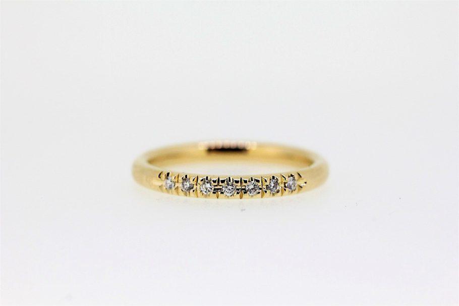 K18メレダイヤ指輪