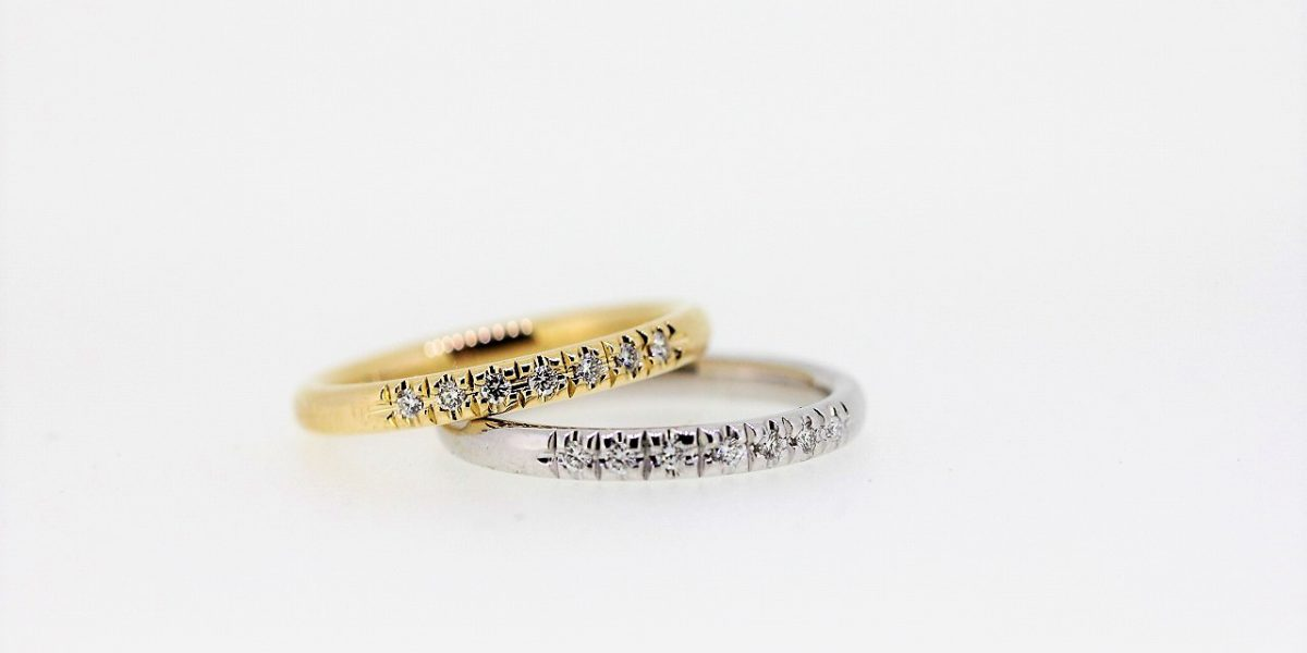 K18SVメレダイヤ指輪